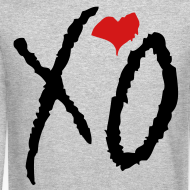 Design ~ CREW Love- XO Alternative Black w/ Red Heart