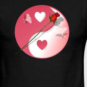 Hot Yin-Yang Valentine-Rose - Men's Ringer T-Shirt
