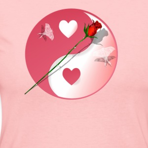 Hot Yin-Yang Valentine-Rose - Women's Long Sleeve Jersey T-Shirt