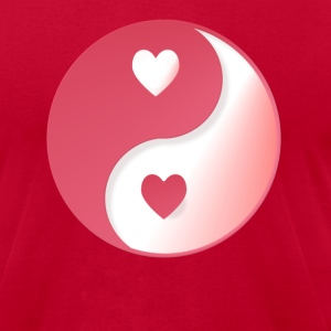 fPlain Valentine Yin Ynag - Men's T-Shirt by American Apparel