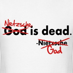 God / Nietzsche is dead. Vector Design T-Shirts