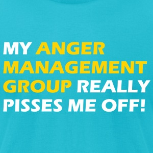 My anger management group really pisses me off - Men's T-Shirt by American Apparel