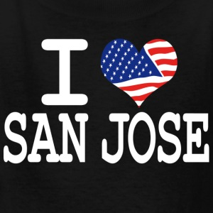 i love san jose - white Kids' Shirts - Kids' T-Shirt