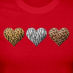 Animal Hearts Long Sleeve Shirts