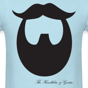 The Handlebar & Goatee - Men's T-Shirt