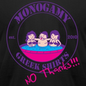 GS Monogamy T-Shirts - Men's T-Shirt by American Apparel