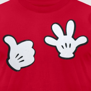 Thumb Up High Five Tee - Men's T-Shirt by American Apparel