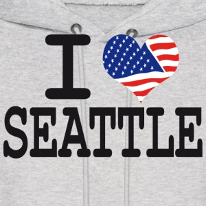 i love seattle Hoodies - Men's Hoodie