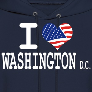 i love washington dc Hoodies - Men's Hoodie