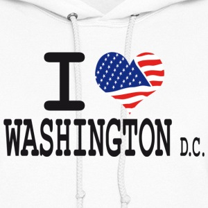 i love washington dc Hoodies - Women's Hoodie
