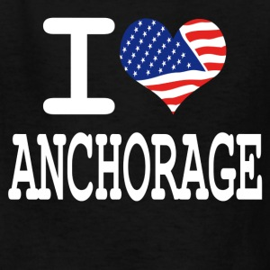 i love anchorage - white Kids' Shirts - Kids' T-Shirt