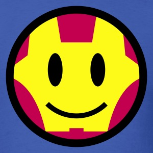 Iron Smiley Man / Iron Man Icon 3c T-Shirts - Men's T-Shirt
