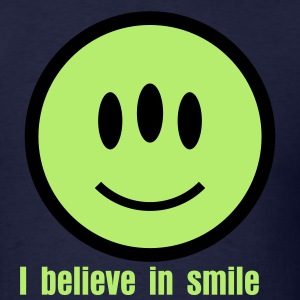 Smiley Alien Icon 2c T-Shirts - Men's T-Shirt