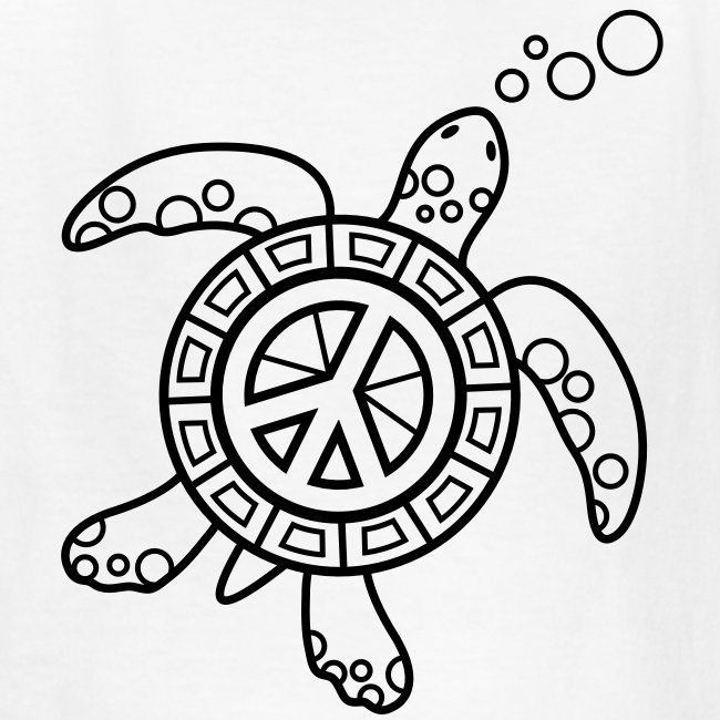 Sea Turtle Coloring T-shirt