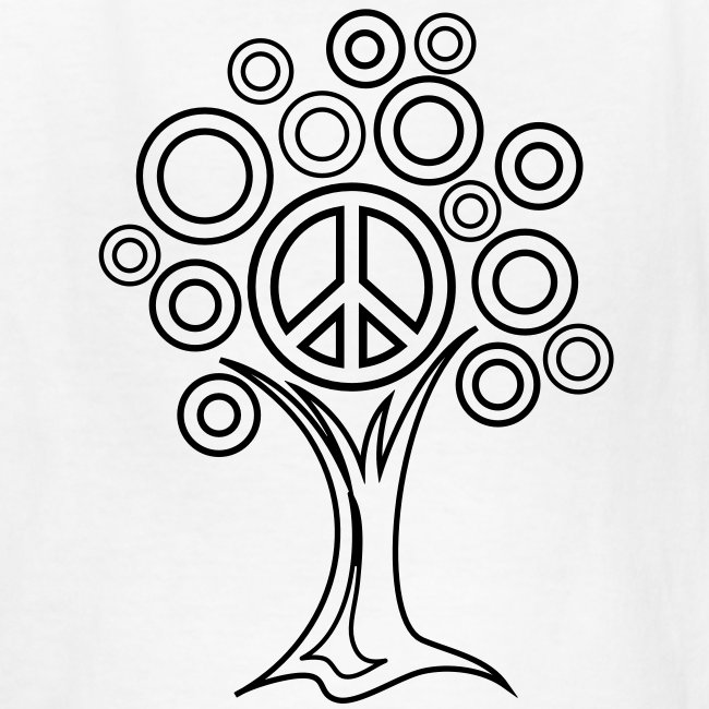 Peace Tree Coloring T-shirt