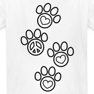 Design ~ Paw Prints Coloring T-shirt