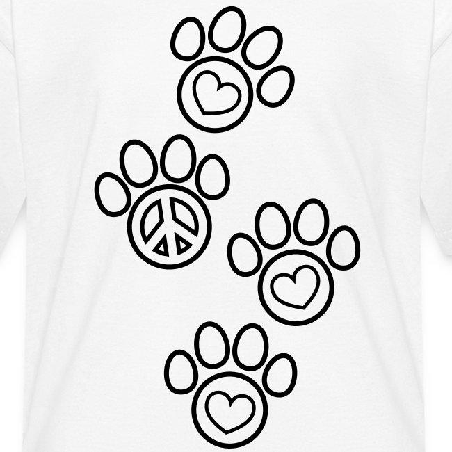 Paw Prints Coloring T-shirt