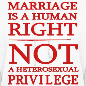 Marriage is a Human Right Hoodies - Women's Hoodie