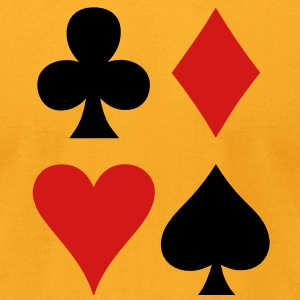 all four suits club diamond heart and spade poker design T-Shirts - Men's T-Shirt by American Apparel