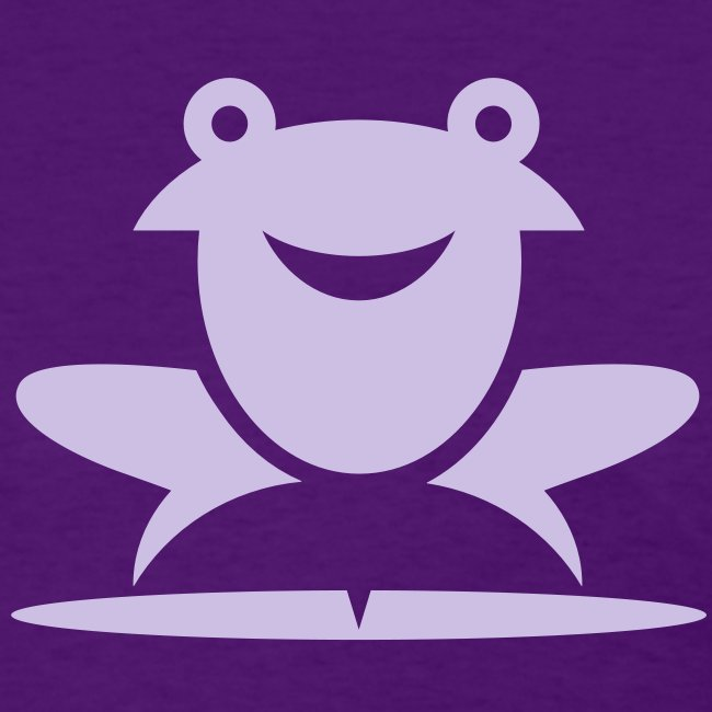Froggie (Purple) Women's Standard Weight T-Shirt