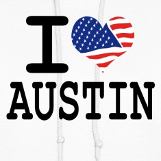 i love austin Hoodies