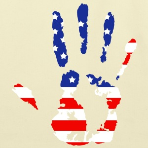 handprint with American flag Bags  - Eco-Friendly Cotton Tote