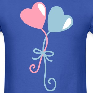 heart balloons entwined together T-Shirts - Men's T-Shirt