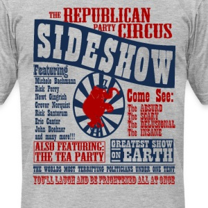 The Republican Sideshow - Men's T-Shirt by American Apparel