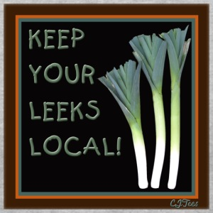 Lady's V - Keep Your Leeks Local! - Women's V-Neck T-Shirt