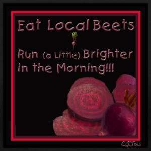 Lady's V -  Eat Local - Beets - Run Better in the Morning!!! - Women's V-Neck T-Shirt