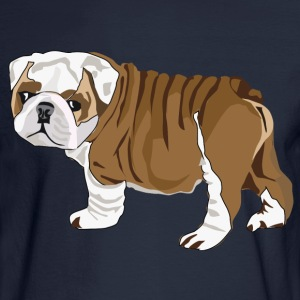 Bulldog Puppy - Men's Long Sleeve T-Shirt