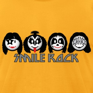 Smile Rock - Smiley Icons (dd light) T-Shirts - Men's T-Shirt by American Apparel