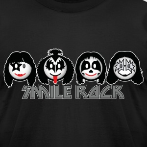 Smile Rock - Smiley Icons (dd dark) T-Shirts - Men's T-Shirt by American Apparel