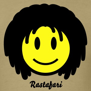 Rasta Reggae Smiley Icon 2c T-Shirts - Men's T-Shirt