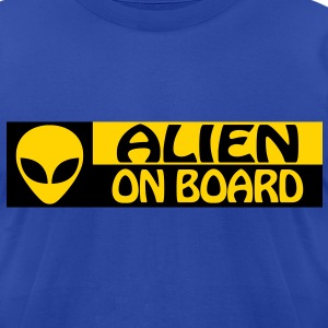 ALIEN ON BOARD - Men's T-Shirt by American Apparel