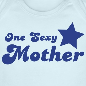 one sexy mother with a star  Baby Bodysuits - Short Sleeve Baby Bodysuit