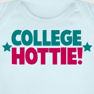 college hottie hot stuff in schooling and education  Baby Bodysuits - Short Sleeve Baby Bodysuit
