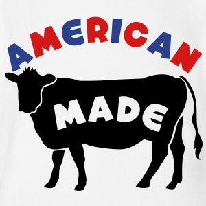 AMERICAN MADE beef cow Baby Bodysuits - Short Sleeve Baby Bodysuit