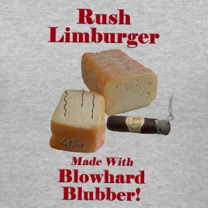 Lady's V -  Rush Limburger - Made With Blowhard Blubber! - Women's V-Neck T-Shirt