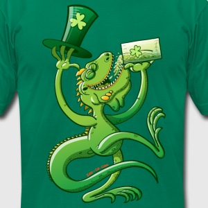Saint Patrick's Day Iguana T-Shirts - Men's T-Shirt by American Apparel