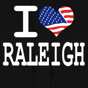 i love raleigh - white Hoodies - Women's Hoodie