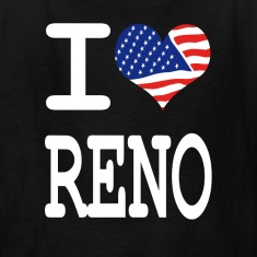 i love reno - white Kids' Shirts