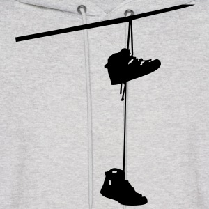 shoefiti shoes hanging bootlace shoelace lace streetart line cable Hoodies - Men's Hoodie