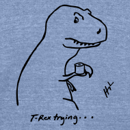 Design ~ T-Rex Bathroom (Tri-blend)