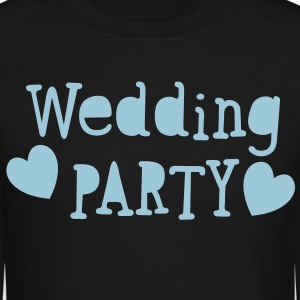 wedding party new vintage funky font Long Sleeve Shirts - Crewneck Sweatshirt