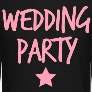 wedding party new funky and with a star Long Sleeve Shirts - Crewneck Sweatshirt