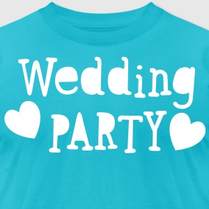 wedding party new vintage funky font T-Shirts - Men's T-Shirt by American Apparel