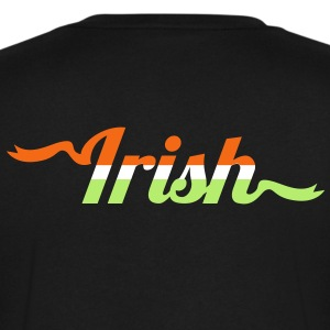 IRISH type in flag  T-Shirts - Men's V-Neck T-Shirt by Canvas