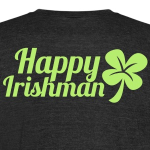 happy irishman shamrock clover humor T-Shirts - Unisex Tri-Blend T-Shirt by American Apparel