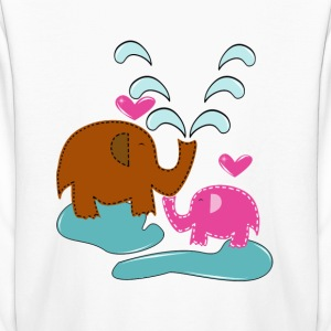 Happy Elephants - Kids' Long Sleeve T-Shirt
